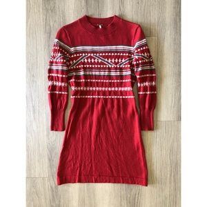Free People red sweater dress